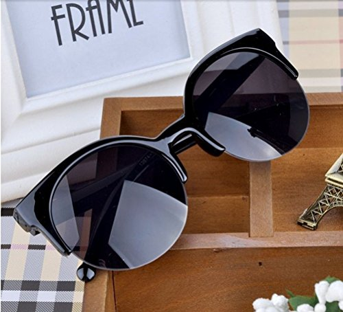 GAMT Fashion Vintage Polarized Sunglasses Retro Semi-Rim Round Unisex Desginer Style - Semi Rim