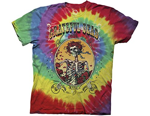 Ripple Junction Grateful Dead Bertha Deco Frame Adult T-Shirt Large Multicoloured (Jester Skeleton)