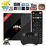 NBKMC Android TV Box 3G+32G Scatola intelligente Android 7.1 H96 Pro+ Plus CPU Amlogic S912 Octa-core 64 bit con una tastiera wireless wifi set-top box Bluetooth 4.1 e True 4K Playing 4K Playing