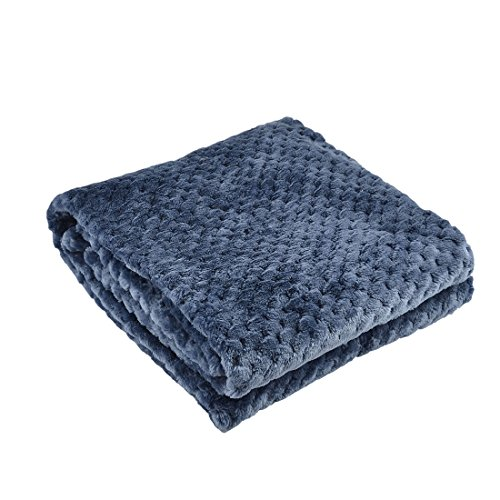uxcell Home Bedroom Travel Warm Soft Mesh Blanket Rug Plush Fleece Bed Quilt Yale -