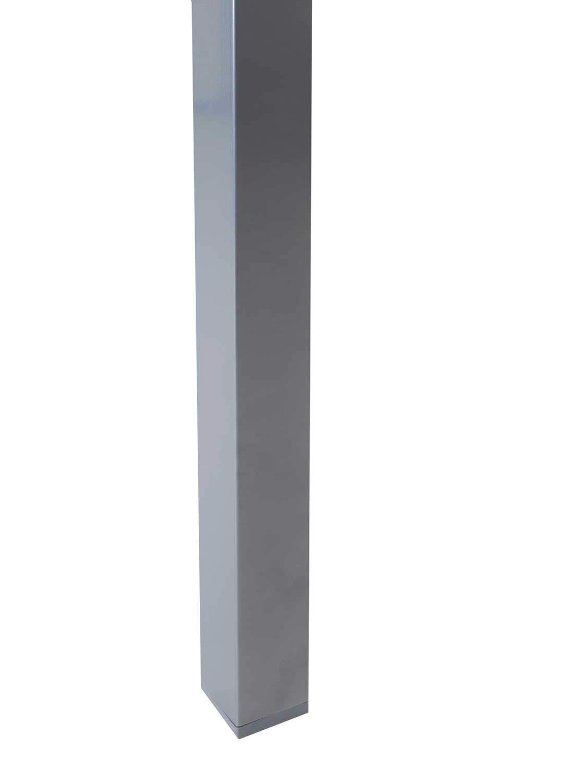 Aluminium Ausziehtisch Gartentisch Terrassentisch Glas Ausziehbar 135x90 cm Grau
