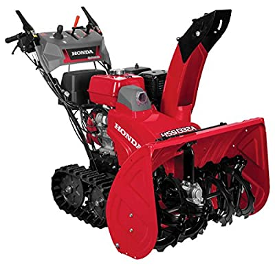 Honda HSS1332ATD 389cc 32 inch Track Drive Two Stage Snow Blower, Electric Start