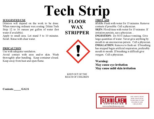 Technichem Corporation TECH STRIP Floor Wax Stripper (1-6 Gallon Pail) ()