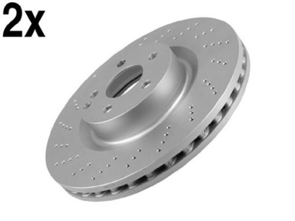 000421151207 10-13 x2 rotors Brake Disc Front L+R Genuine Mercedes w212