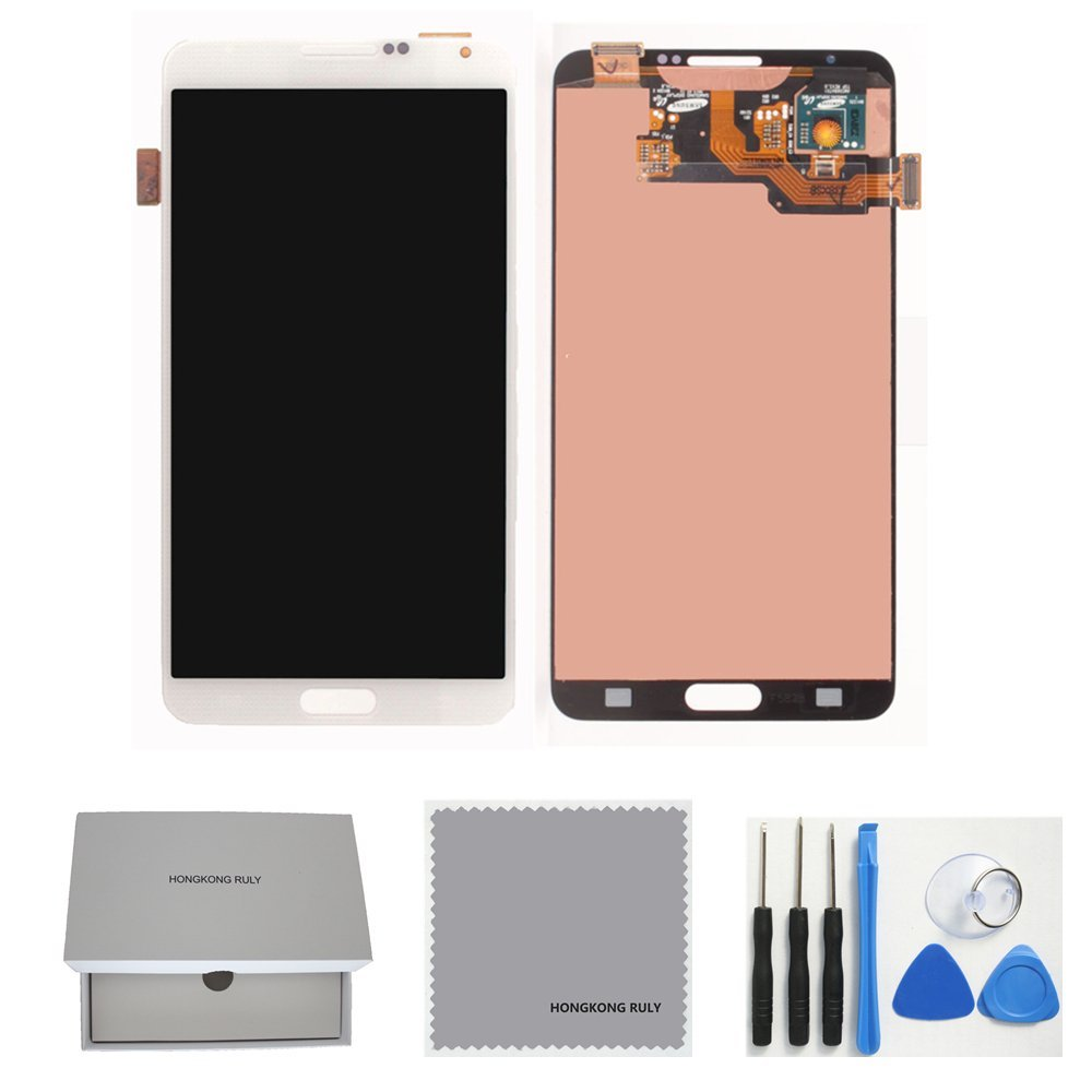 Full LCD Display Touch Screen Digitizer Assembly Replacement for Samsung Galaxy Note 3 N900 N900v N900t with Free Tools (white)