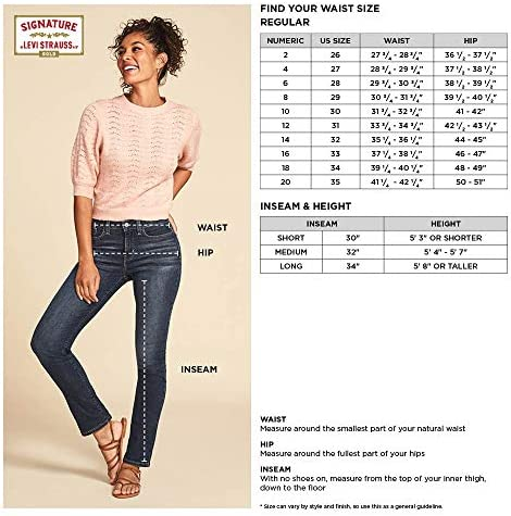 Signature through Levi Strauss & Co. Gold Label Women's Totally Shaping Pull-On Skinny Jeans
