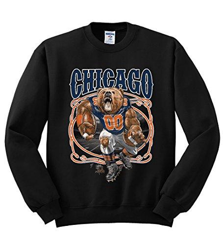 - Chicago Fan | CHI Fantasy Football | Mens Sports Crewneck Graphic Sweatshirt, Black, X-Large