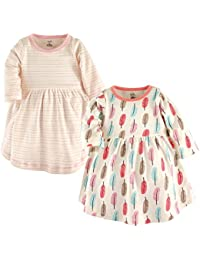 Baby Girls 2-Pack Organic Cotton Dress, Feathers, 18-24...