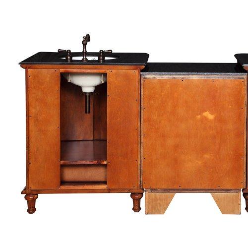 53 5 bathroom black galaxy granite stone top single sink vanity modular 2 piece cabinet set for Modular bathroom vanity pieces
