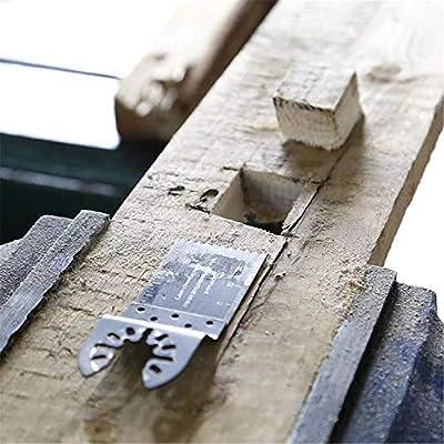 Negro Universal Treasure Blade 35mm Woodworking Cutting Hoja de sierra recta abierta Hoja de sierra multiherramienta oscilante Juego de herramientas el/éctricas