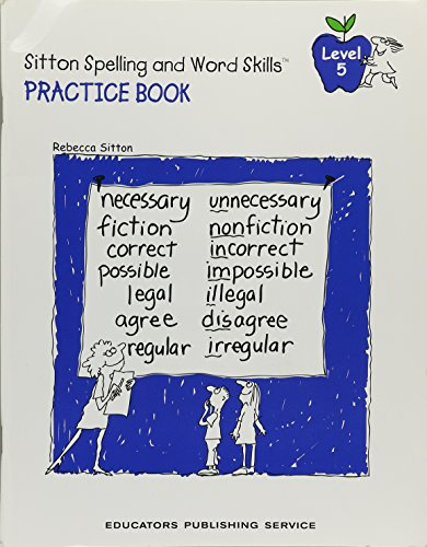 Rebecca Sitton's Practice Book for Learning Spelling and Word Skills for Students (Level 5)