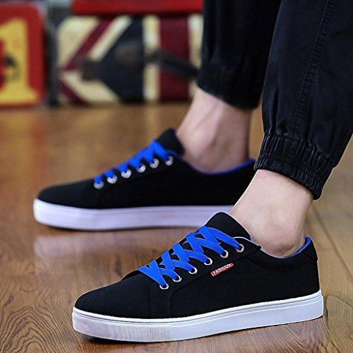 YaNanHome 36 basse Size scarpe tela nuovo casual Espadrillas estiva Scarpe stile stile Color Scarpe da Blue Black coreano uomo di scarpe basse qrqFRfx