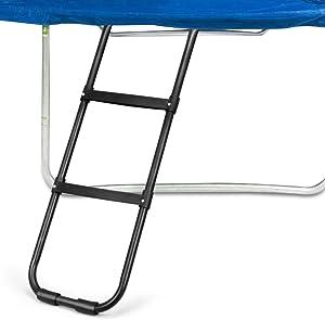 Gardenature Trampoline Ladder-2 Steps Wide-Step Ladder-Black