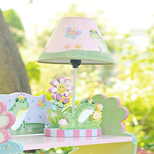 Teamson Design Corp Fantasy Fields - Magic Garden Thematic Kids Table Lamp | Imagination Inspiring Hand Painted Details Non-Toxic, Lead Free Water-based Paint by Teamson Design Corp