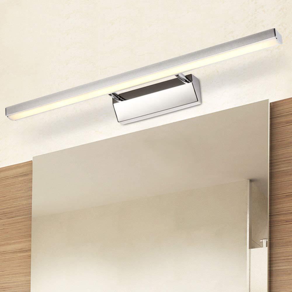 JYY Spiegel-Lampen Badezimmer-Eitelkeits-Beleuchtungs-BefestiGängen Edelstahlbad-Make-upwandleuchten Wasserdicht Und Beschlagen,A-27.55in-warmlight