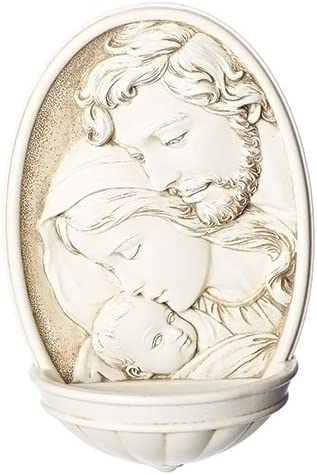 Christmas Nativity Scene Holy Family Water Font, 8 Inch