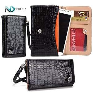 Quaroth - LG Spectrum II 4G VS930 (Verizon Wireless) Universal Bifold Smartphone Case/Wallet with Attachable Wristlet and...