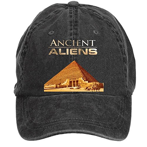 Jidlg-Unisex-Cotton-Ancient-Aliens-Pyramid-Poster-Adjustable-Washed-Baseball-Cap