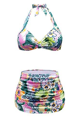 Fashion Vintage Floral Swimsuit Swimwear