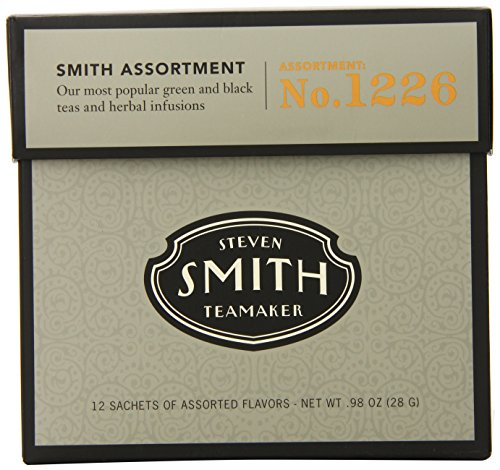 Smith Teamaker Tea Assortment Number 1226 Full leaf teas and herbal infusions, 12 Count