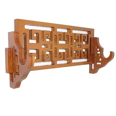 Mounoe Espada de bambú clásica Soporte de Pared Katana ...