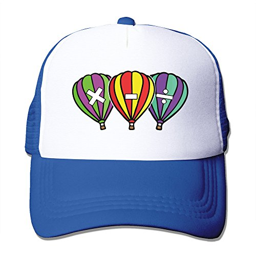WZN Math Symbols On Hot Air Balloons Hats With RoyalBlue ()