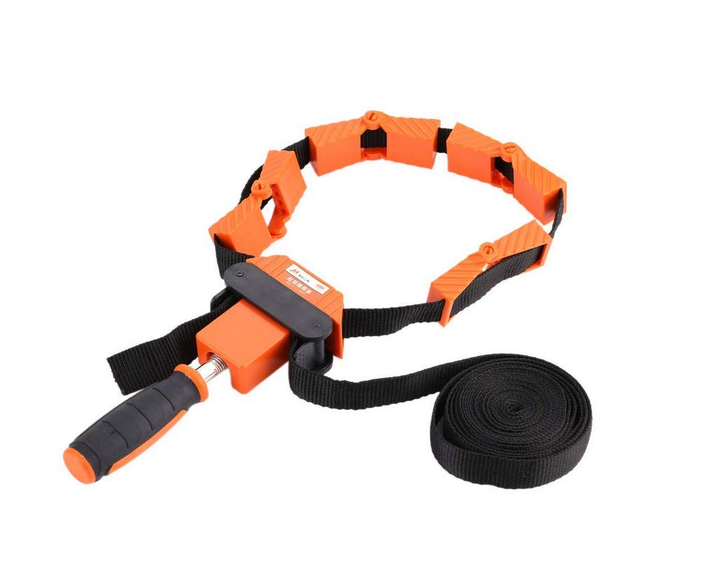HYCy Band-Clamp 4.0m/13ft, Band Clamp 4m Speed Frame Picture Woodworking Strap Ratchet Corner Mitre Vise Tool Rapid Adjustable for Frames Drawers One-Hand Belt 4-Flexible Jaws by HYCy