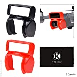 CamKix Compatible Sun Hood for DJI Spark, 2 Pack (Black + Red) - Drone Camera Shield/Shade / Visor - Blocks Excess Sunlight - Enhanced Video Footage - Maximum Gimbal Freedom