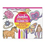 7 year old girl drawing - Melissa & Doug Jumbo 50-Page Kids' Coloring Pad - Horses, Hearts, Flowers, and More