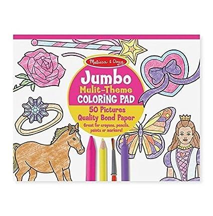 Melissa Doug Jumbo 50 Page Kids Coloring Pad
