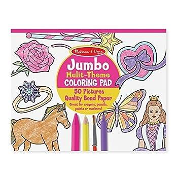 melissa doug jumbo 50 page kids coloring pad horses hearts - Melissa And Doug Coloring Book