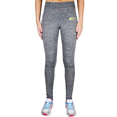 SMILODOX - Pantalón deportivo - para mujer Grau/Gelb