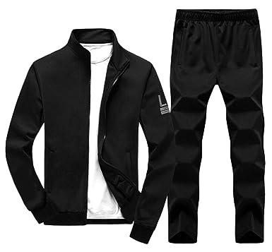 45b1717be17f6 ouxiuli Men's Active Tracksuits 2 Pieces Jacket & Pants Full Zip ...