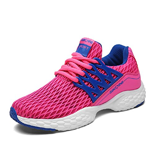 Men's sports shoes training shoes breathable comfortable fitness mesh shoes casual outdoor shoes neutral Rose Red BHevd98f