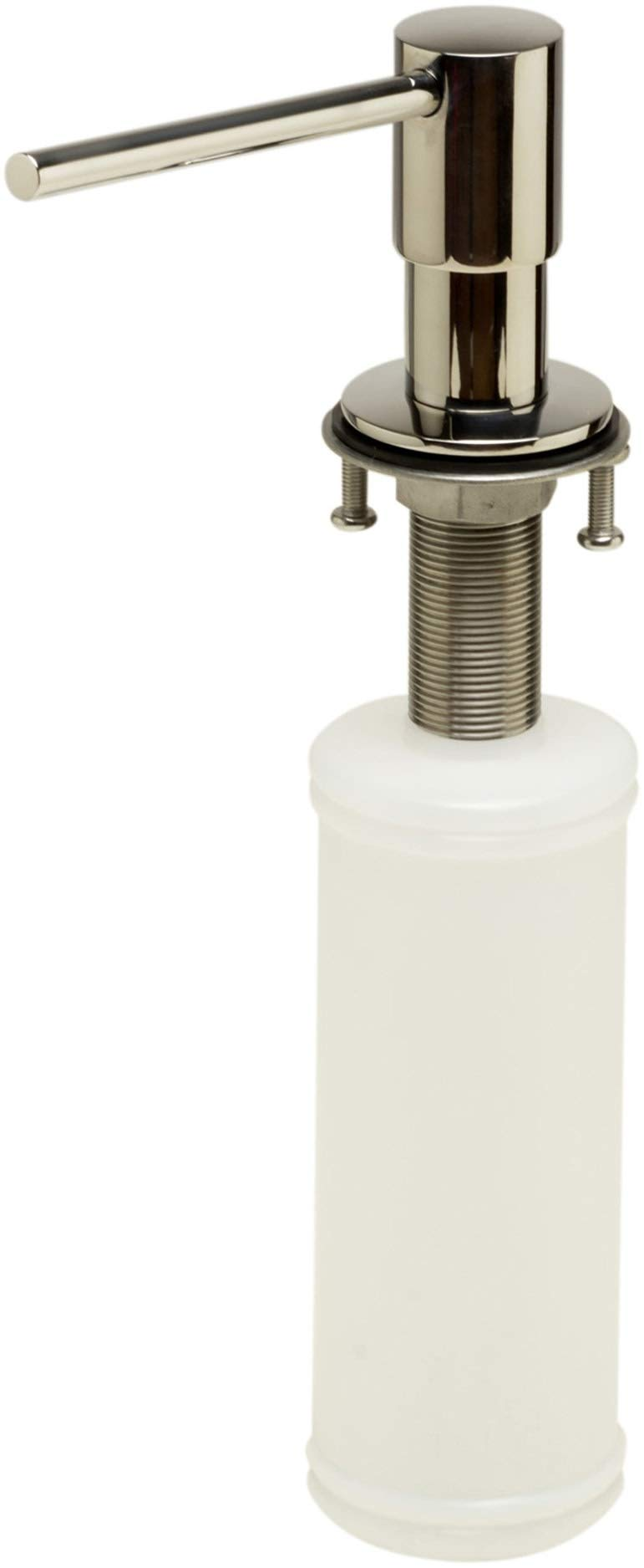 ALFI brand AB5006-PSS Modern Round Polished Stainless Steel Soap Dispenser