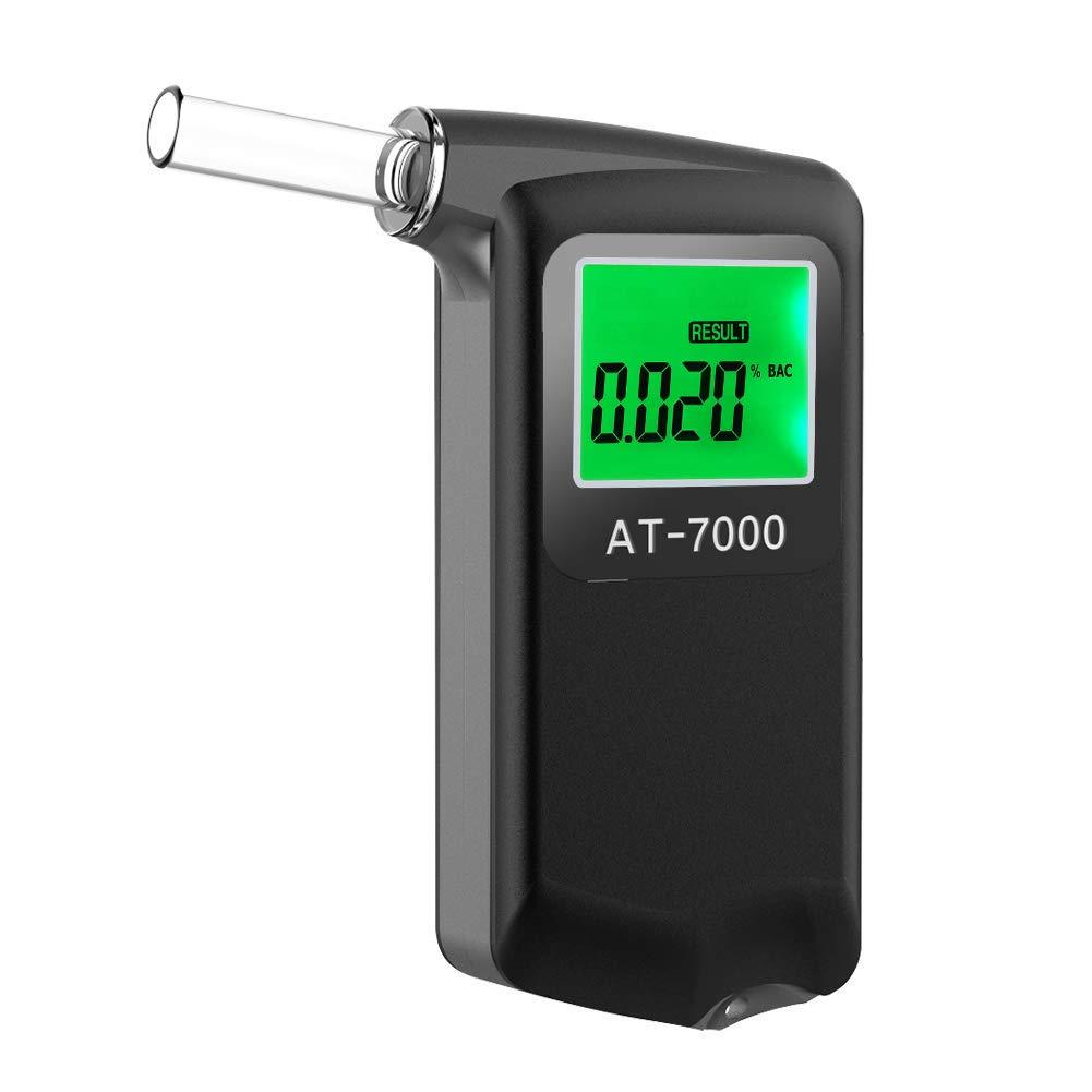 Furhead 2.0 Breathalyzer Portable Professional Breath Alcohol Tester with Digital LCD Display Breath Analyzer High Quality with 5 Mouthpiece by Furhead