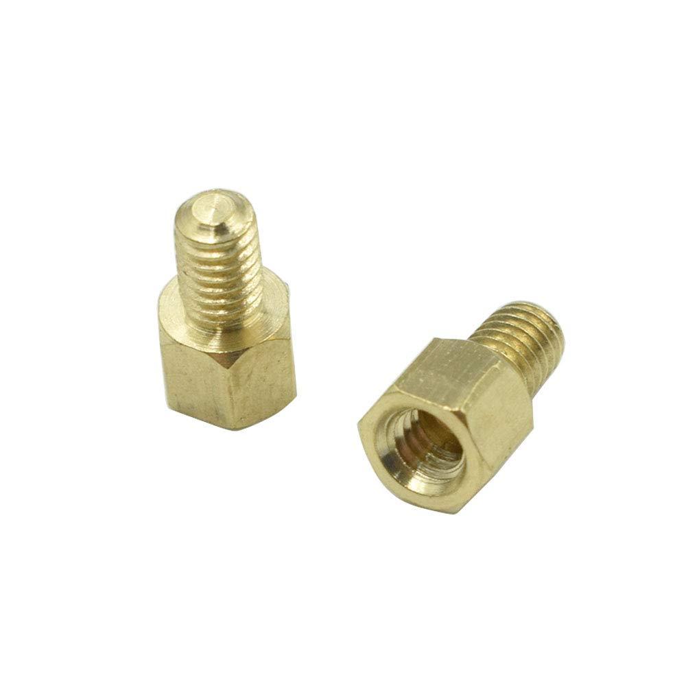 Hxchen M3.3 x 30mm 20 Pcs 6mm Male to Female Thread Brass Hexagon Hex Standoff Spacer Pillars