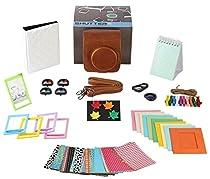 Fujifilm Instax Mini 90 Camera Accessories Bundle,11 Piece Set Includes:Mini 90 Camera Case + Strap, Photo Album, Selfie Lens,4 Color Lenses, Hanging + Photo Frames, Fridge Magnets, Stickers.