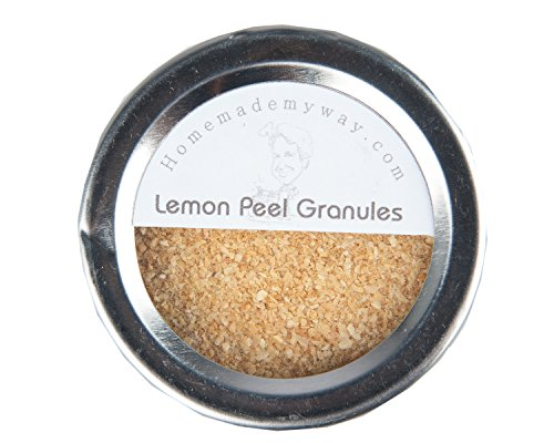 Price comparison product image Homemade My Way Lemon Peel Granules 2.50 oz in Magnetic Spice Tin with a Clear Shaker Lid