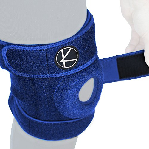 Adjustable Knee Brace Support for Arthritis, ACL, MCL, LCL, Sports Exercise, Meniscus Tear, Injury Recovery, Pain Relief, Walking – Open Patella Neoprene Stabilizer Wrap for Women, Men, Kids(Size 3)