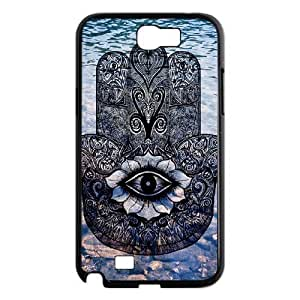 Custom Cover Case with Hard Shell Protection for Samsung Galaxy Note 2 N7100 case with Hamsa lxa#240772 by icecream design
