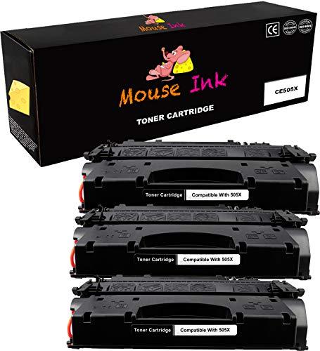 Laser Hewlett Mouse Packard (3 Packs Mouse Inks Compatible HP CE505X HP 05X HP05X HP505X HP 505X- 6 500 Pages - High Yield HP 05A HP05A HP#05A CE505A Black BK Toner Cartridge HP Laserjet P2055d P2055dn P2055x)