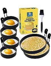 JORDIGAMO - Professional Egg Ring and Pancake Ring Combo Set fff