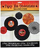 Rock On Heavy Metal Themed Party Printed Paper Fan Assortment Decoration