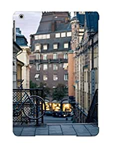 Crazinesswith Protection Case For Ipad Air / Case Cover For Christmas Day Gift(bicycle On A Street In Stockholm)