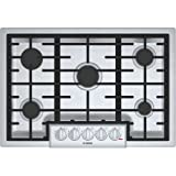 "Best 30 Gas Cooktops - Bosch 800 Series 30"" Stainless Steel 5 Burner Review"