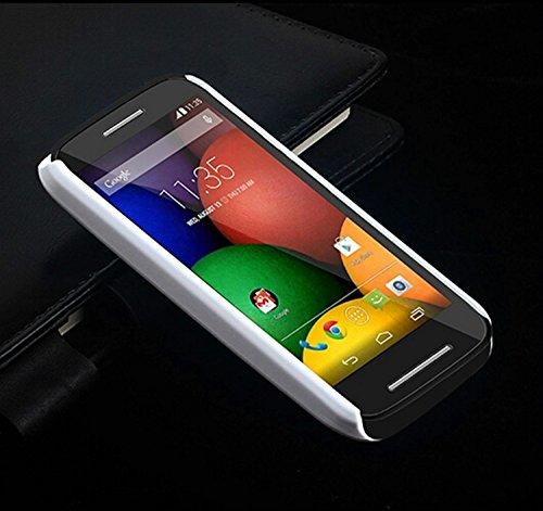 MOTO E case,E-fashion Durable Full Body Protection Hard PC Case for Motorola Moto E (XT1021 / XT1022 / XT1025) with Screen Protector and Stylus Pen