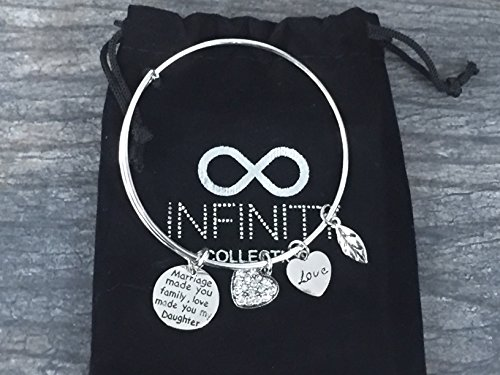 Infinity Collection Daughter in Law Bangle Bracelet- Daughter in Law Gifts- Daughter in Law Jewelry for Daughter in Laws by Infinity Collection (Image #1)