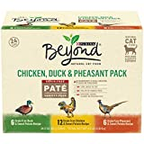 Purina Beyond Grain Free - Natural Pate Wet Cat Food - Chicken - Duck & Pheasant Recipe Variety Pack - (24) 3 oz. Cans