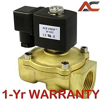 1 NPT Brass Electric Solenoid Valve 24-Volt AC 24VAC Water Air Gas NC 1 inch